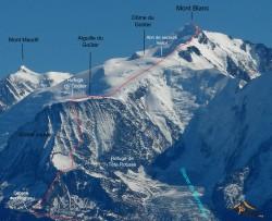 Mont Blanc Goûter route