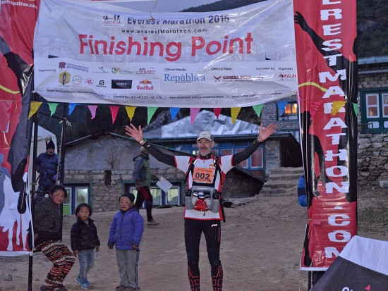 Finish Mount Everest Marathon