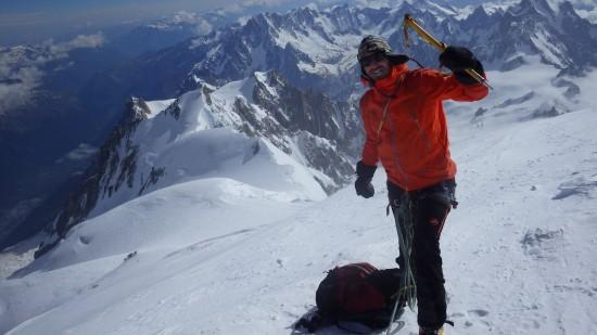 Jelle op de Mont Blanc