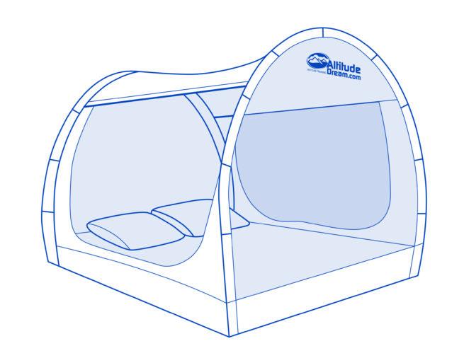 Hoogtetent Deluxe bed-tent